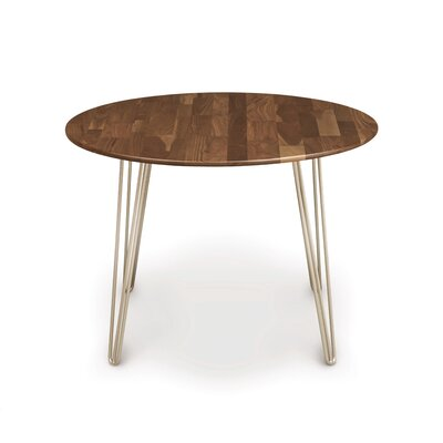 Essentials Dining Table Color: Natural Walnut, Leg Material: Metal