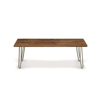 Essentials Coffee Table Top Color: Natural Walnut, Leg Material: Metal