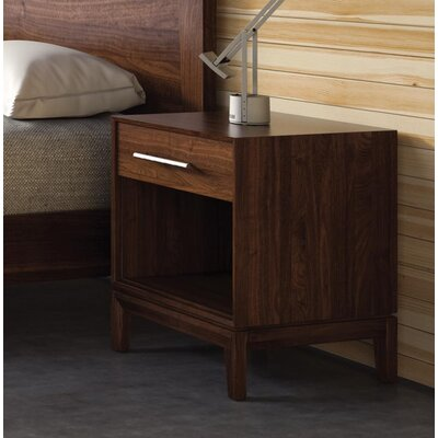 Mansfield 1 Drawer Nightstand Color: Natural Walnut