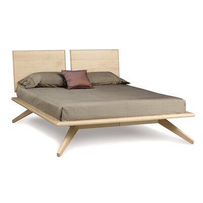 Astrid Platform Bed Size: Queen, Color: Bright White Maple