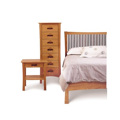 Berkeley 1 Drawer Nightstand Color: Cognac Cherry