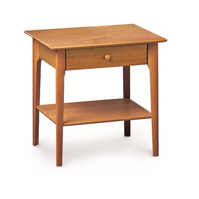 Sarah 1 Drawer Nightstand Height: 24, Color: Cognac Cherry