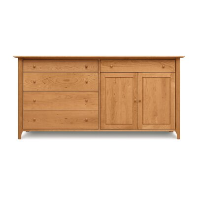 Sarah Sideboard Configuration: 4 Drawers on Left, 1 Drawer over 2 Doors on Right, Color: Saddle Cherry