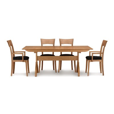 Sarah Trestle Extendable Dining Table Finish: Smoke Cherry