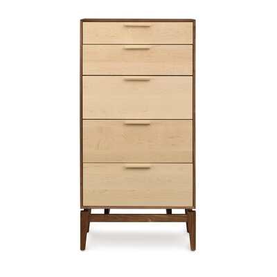 SoHo 5 Drawer Chest Drawer Color: Cherry Drawers, Base Color: Cherry Case