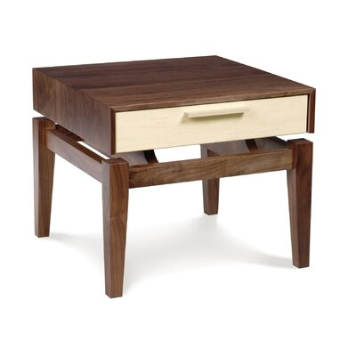 No credit check financing SoHo Nightstand Finish: Walnut Base...