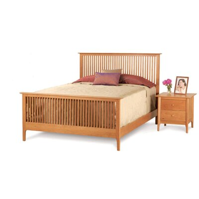 Easy furniture financing Sarah Slat Bed Finish: Natural Cher...