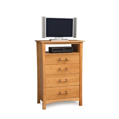 Monterey 4 Drawer Media Chest Color: Natural Cherry
