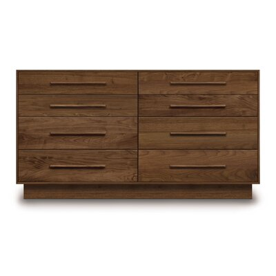 Moduluxe 8 Drawer Double Dresser Color: Slate Maple
