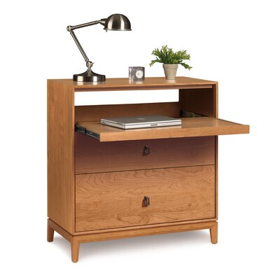 Mansfield Credenza Desk Top Coat Finish: Conventional, Finish: Natural Cherry Product Picture 527