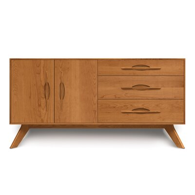 Audrey 2 Doors on Left Sideboard Color: Natural Cherry
