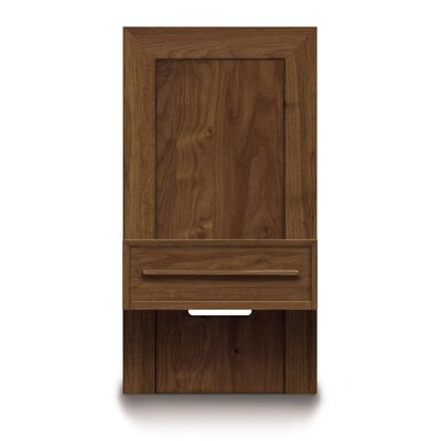 Moduluxe 1 Drawer Nightstand Color: Natural Walnut, Size: 35 H x 24 W x 18 D