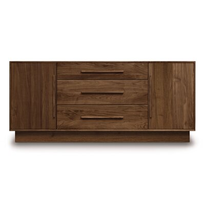Moduluxe 3 Drawer Dresser Color: Dark Chocolate Maple