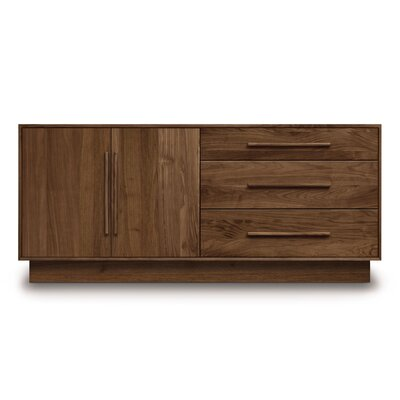 Moduluxe 3 Drawer Dresser Color: Natural Walnut
