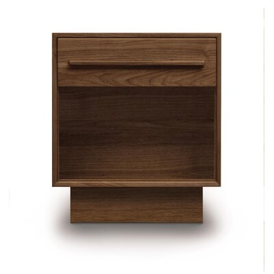 Moduluxe 1 Drawer Nightstand Color: Bright White Maple