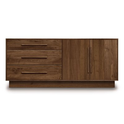 Moduluxe 3 Drawer Dresser Color: Natural Maple