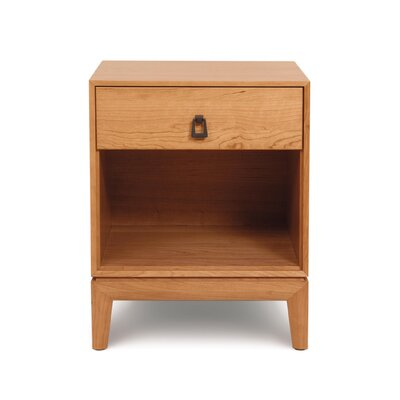 Mansfield 1 Drawer Nightstand Finish: Smoke Cherry