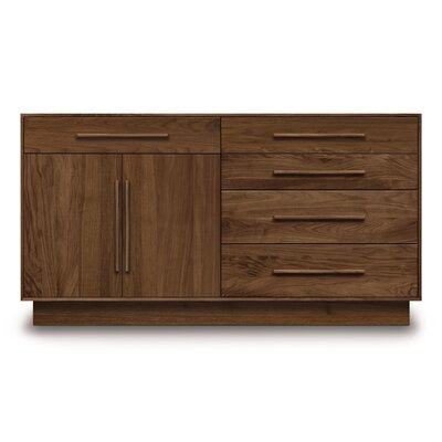 Moduluxe 5 Drawer Dresser Color: Smoke Cherry