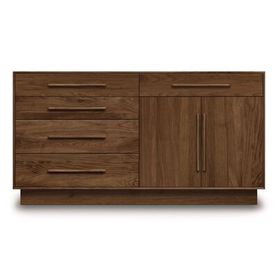 Moduluxe 5 Drawer Dresser Color: Natural Walnut