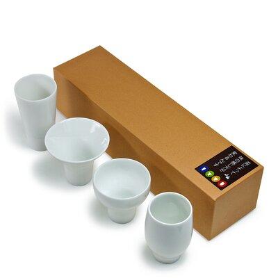 Varietal Sake Cup 4 Piece Ceramic Assorted Glassware Set J3344S