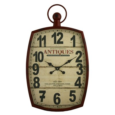 McVille 19.5 Pocket Watch Wall Clock