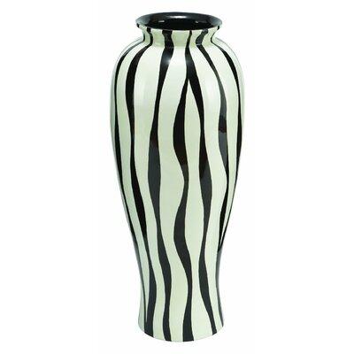 Modern Zebra Print Floral Vase