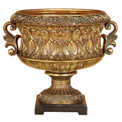 Golden Vines and Leaves Decorative Bowl