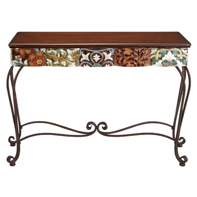 Image of Aspire Colorful Wood Top Hall Table (EHQ1557)