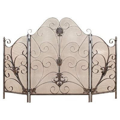Credit for Elegant 3 Panel Metal Fire Screen...
