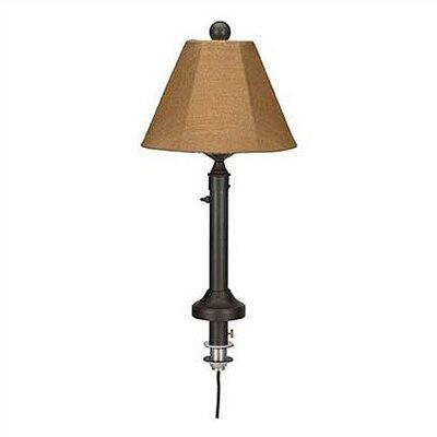 Patio Living Concept Catalina Umbrella Table Outdoor Lamp with Sunbrella Shade - Lamp Finish: Black, Lamp Shade: Basil Linen at Sears.com