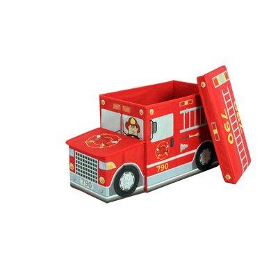 Greenway Childrens Fire Truck Storage Ottoman