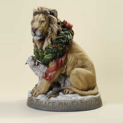 Lion and Lamb Peace on Earth Christmas Figure