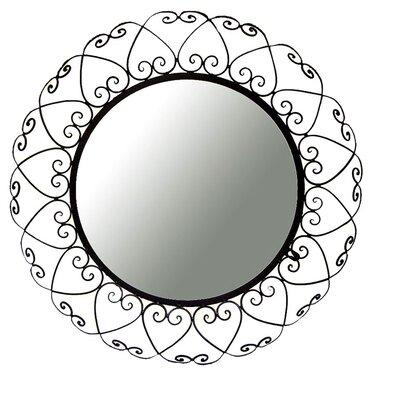 Decorative Wall Mirror In Brown Iron