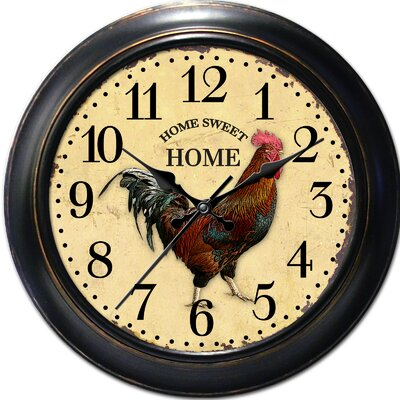 Decorative Home 18 Classic Rooster Wall Clock