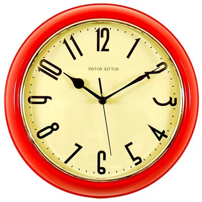 Retrospective Wall Clock Color: Red