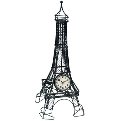 Metal Eiffel Quartz Table Clock
