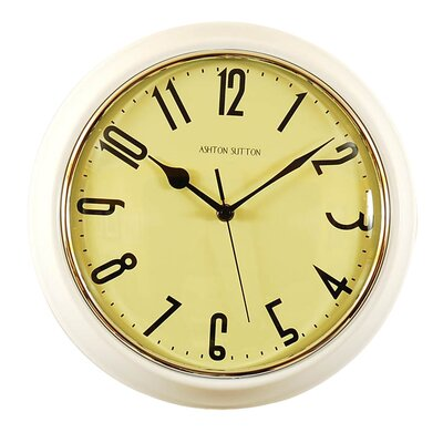 Retrospective Wall Clock Color: White