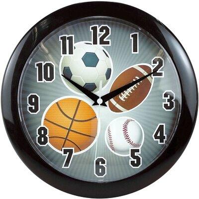 """9.75"""" Sports Wall Clock MZC182"""