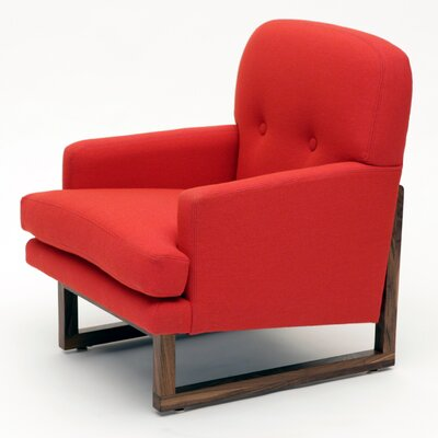Melinda Armchair Upholstery Color: Berry Red