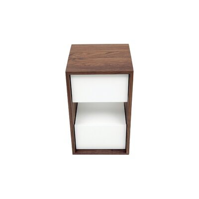 """THN 2 Drawer Nightstand Color: White, Size: 18"""" H x 18"""" W"""