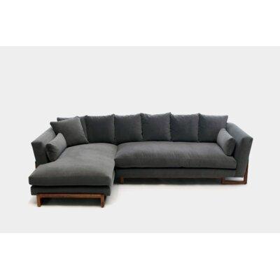 Lrg Reversible Sectional Upholstery: Aged Velvet Flannel