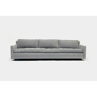 Up Three Seater Standard Sofa Upholstery: Aged Velvet Fog