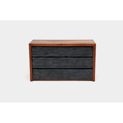 SQR Drawer Dresser Length: 48, Color: Solid Walnut and Reclaimed Wood