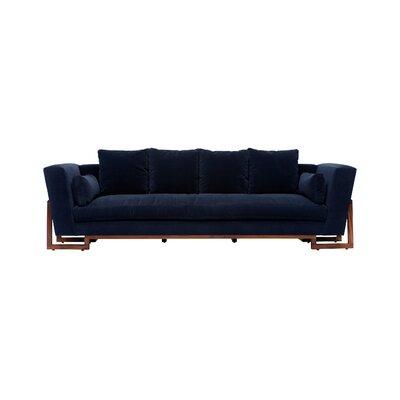 LRG Sofa Upholstery: Deep Blue Velvet