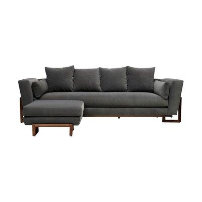 LRG Sofa Upholstery: Flannel Grey Aged Velvet