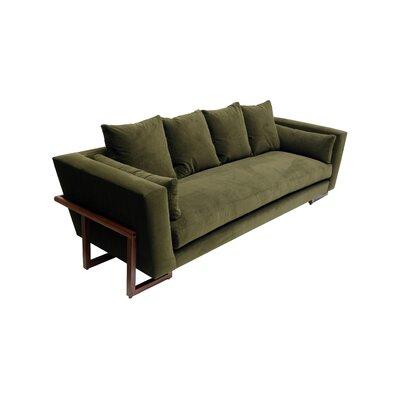 LRG Sofa Upholstery: Forest Green Aged Velvet