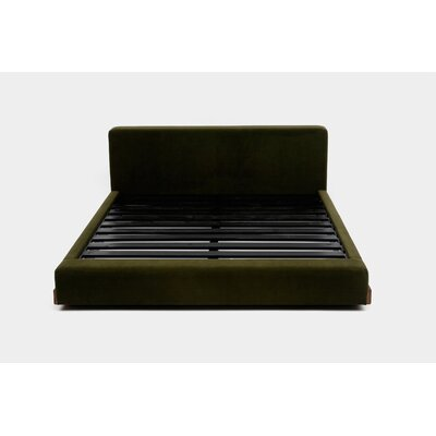 UP Upholstered Platform Bed Size: King, Upholstery: Forest