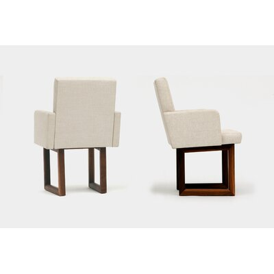 C2W Upholstered Dining Chair Upholstery: Creme
