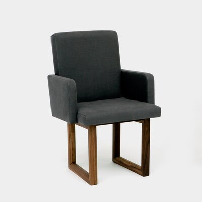 C2W Upholstered Dining Chair Upholstery: Smoke