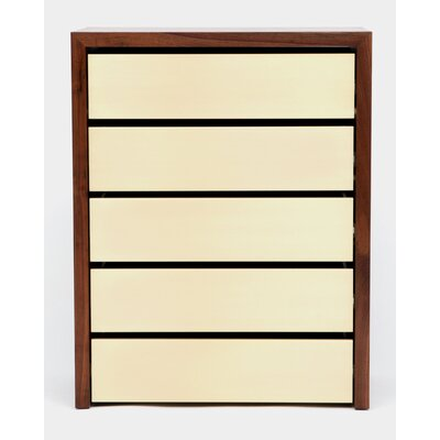 SQM 5 Drawers Chest Color: Gold